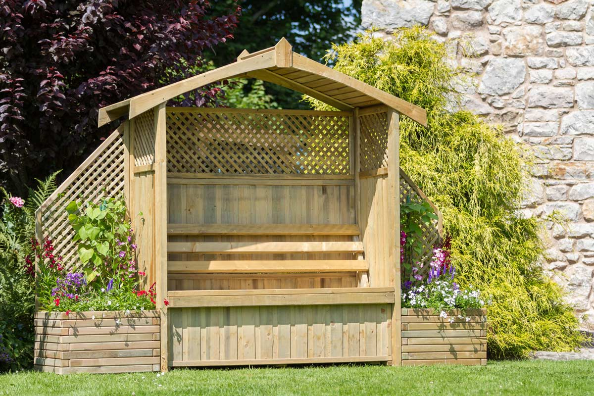 Hampshire Arbour With Storage Box Zest 4 Leisure Direct