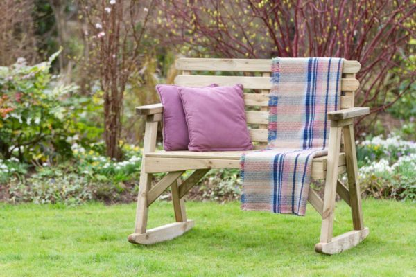 Abbey Wooden Rocking Bench