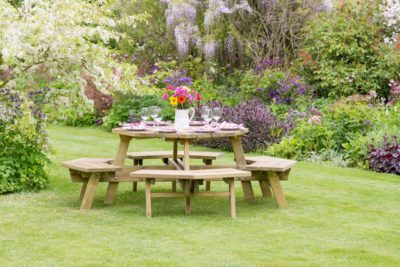 Wooden Octagon Picnic Table