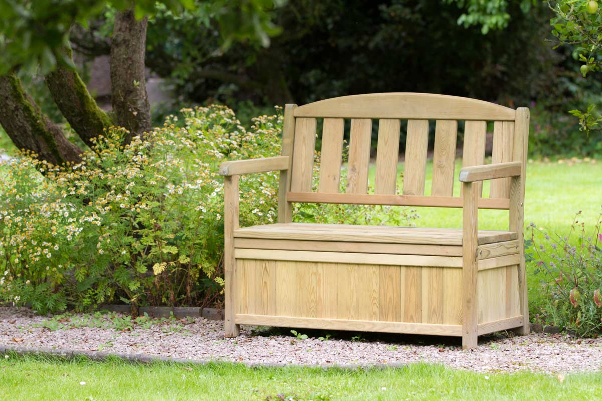 Caroline Bench With Storage Box Zest 4 Leisure Direct