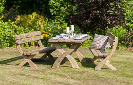 Harriet Table And 2 Bench Set Bench Set Zest 4 Leisure