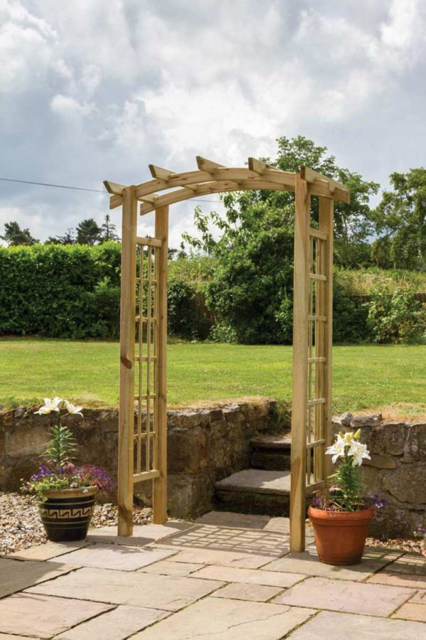 Moonlight Wooden Trellis Arch
