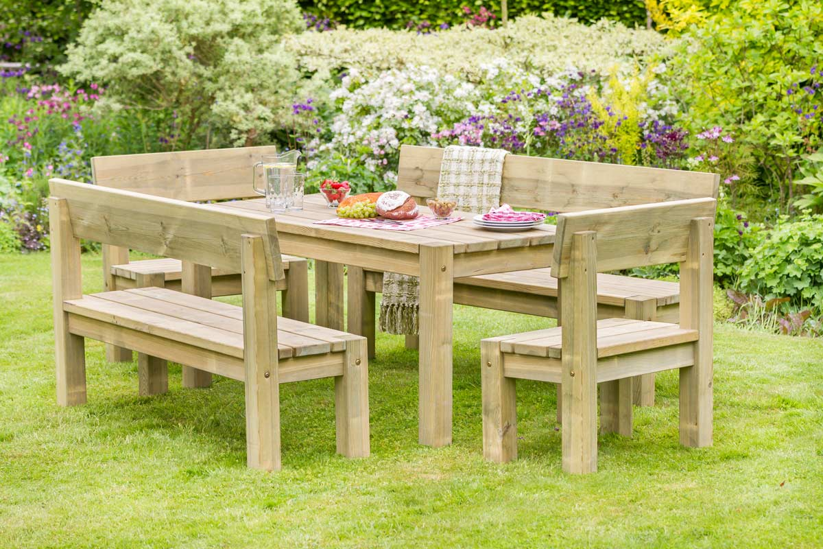 Philippa Table, Bench and Chair Set