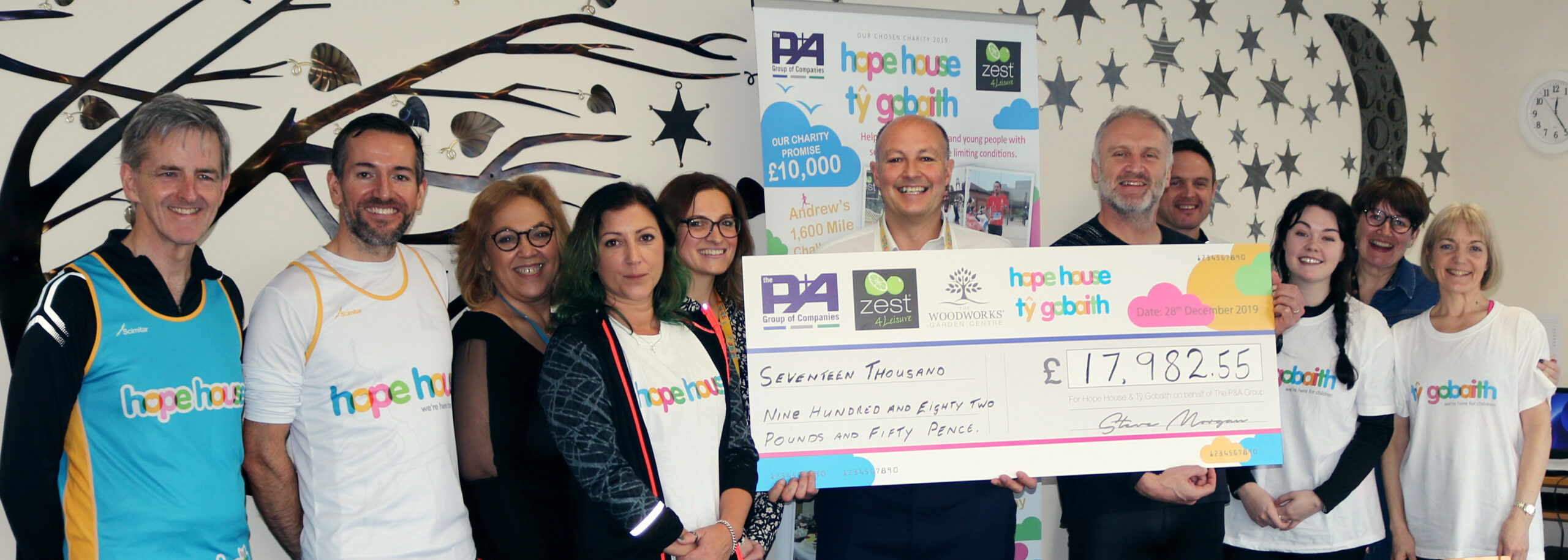 P&A Group donates £17,982.55 to Hope House Children's Hospice