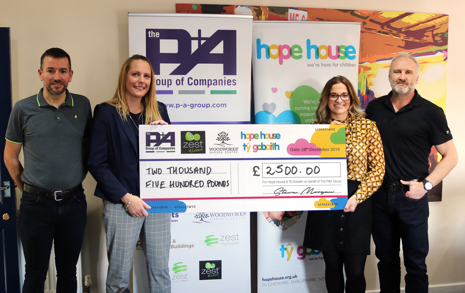 P&A Group donates £2,500 to Hope House Children's Hospice